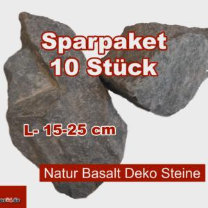 Sparpaket XL Basalt Steine Aquarium Deko anthrazit 15-25 cm